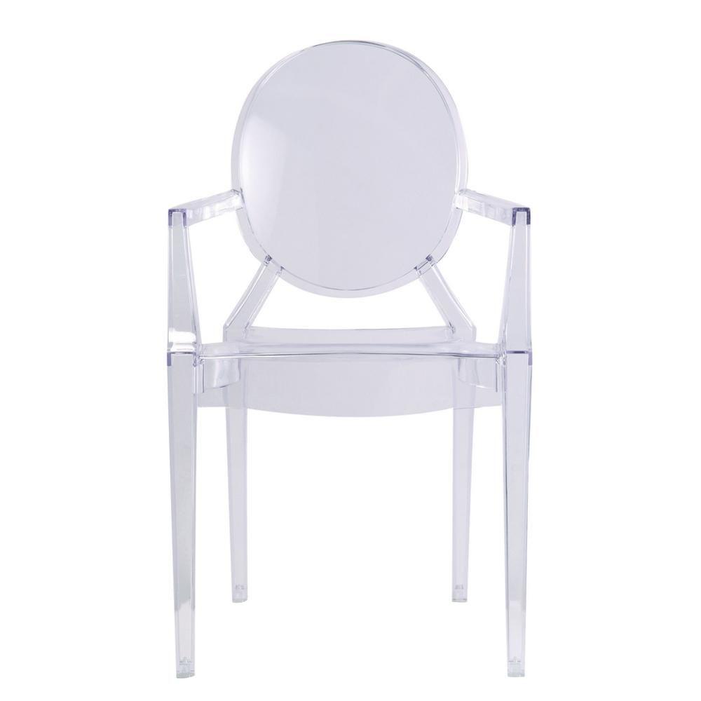 Fine mod imports clear arm chair clear acrylic chair