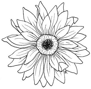 Beccy S Place Sunflower Gerbera Flower Coloring Pages Digital Stamps Coloring Pages