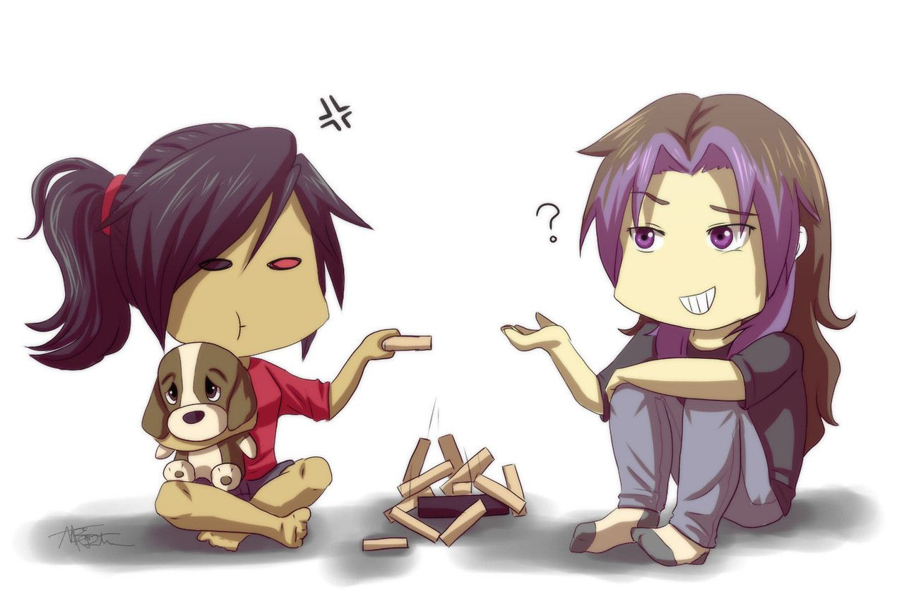 Minxkrism And Little Timmy Having Fun With Jenga Krism And Minx