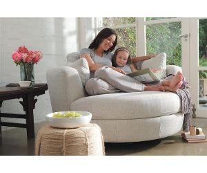 Charmant Plush Snuggle Swivel Chair