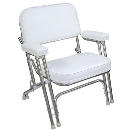 Springfield Classic Folding Deck Chair White   Overtonu0027s