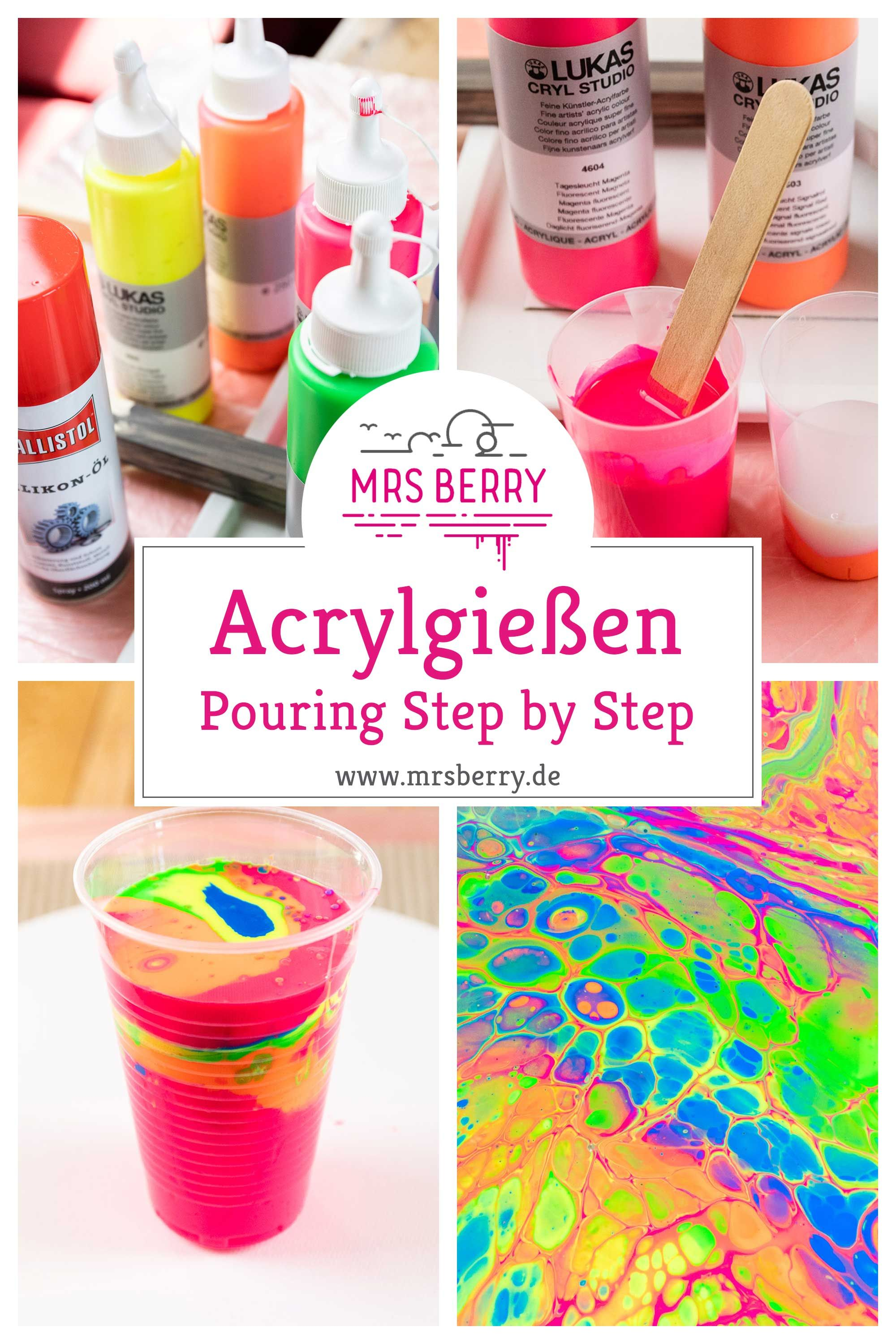 Acrylfarbe gießen – Acrylic Pouring der neue DIY Trend
