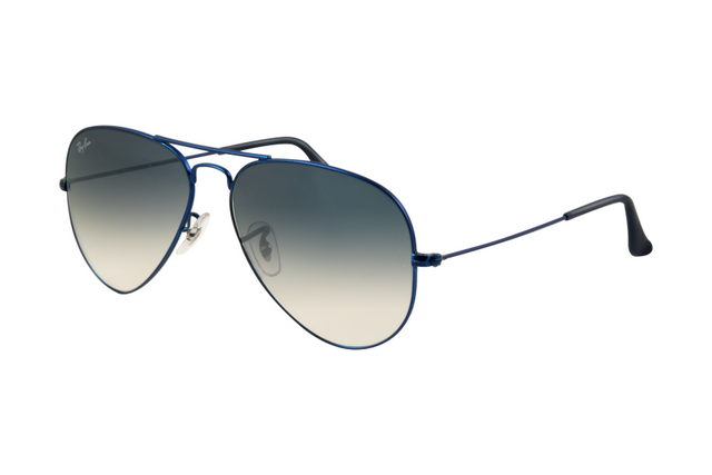 Ray Ban Aviator RB3025 Sunglasses Metal Blue Matte Frame Gradient ...