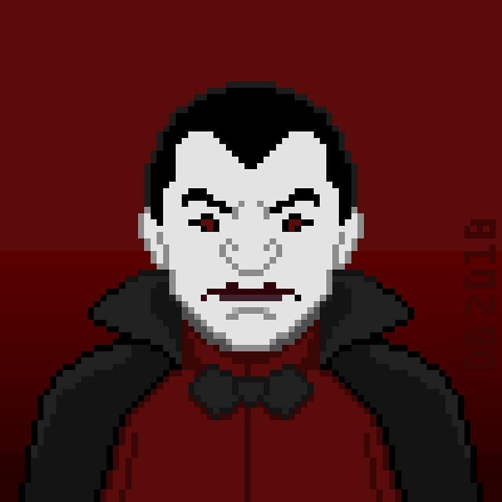 Dracula In Pixel Art Form By Dominic Beaudoin On Instagram