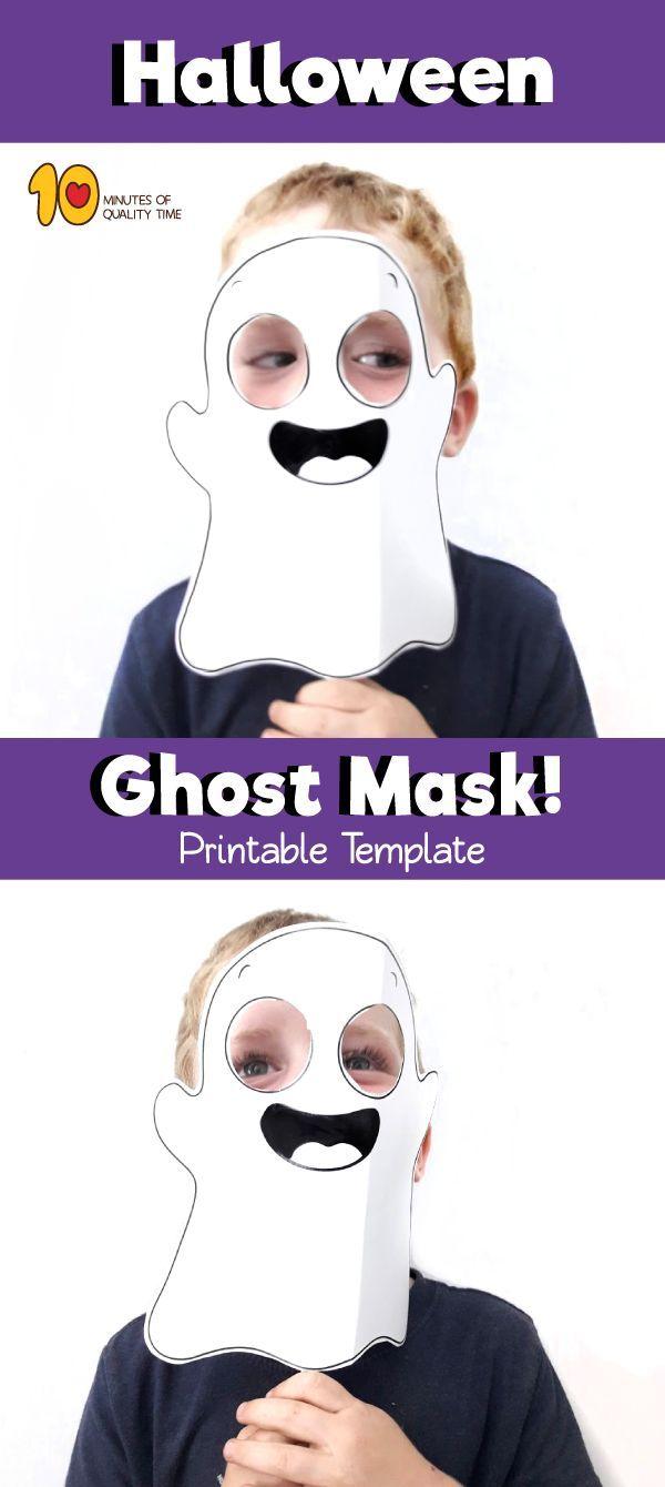 Printable Halloween Ghost Mask