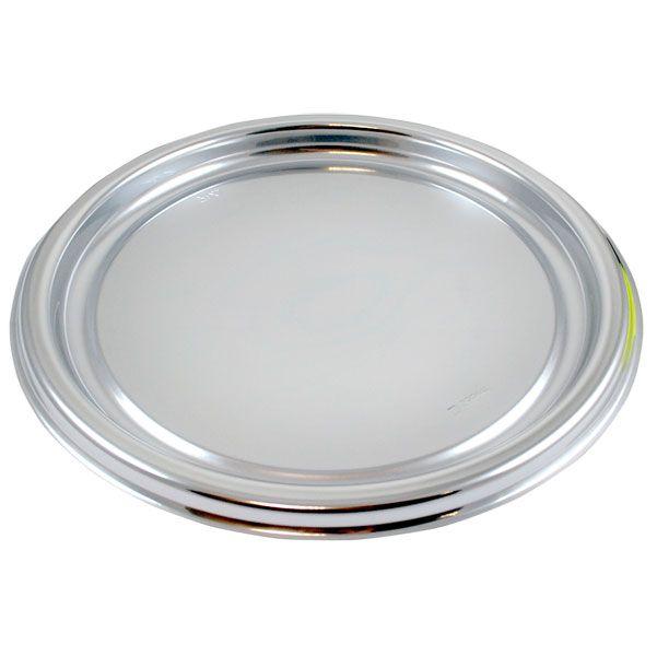 Silver Plastic Round Platters - 30cm£9.955pk