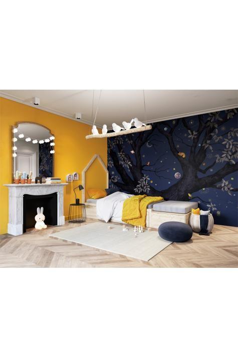 Papier peint panoramique Arbracadabra Nuit – 8 lés – Isidore Leroy