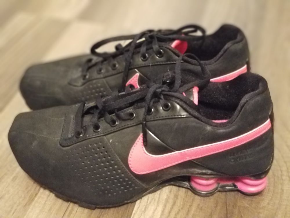 new concept a23ee 2dc4b Womens NIKE SHOX 318145-006 Black Pink Athletic Running Shoes SIZE 6 Y EUR  38.5  fashion  clothing  shoes  accessories  womensshoes  athleticshoes ( ebay ...