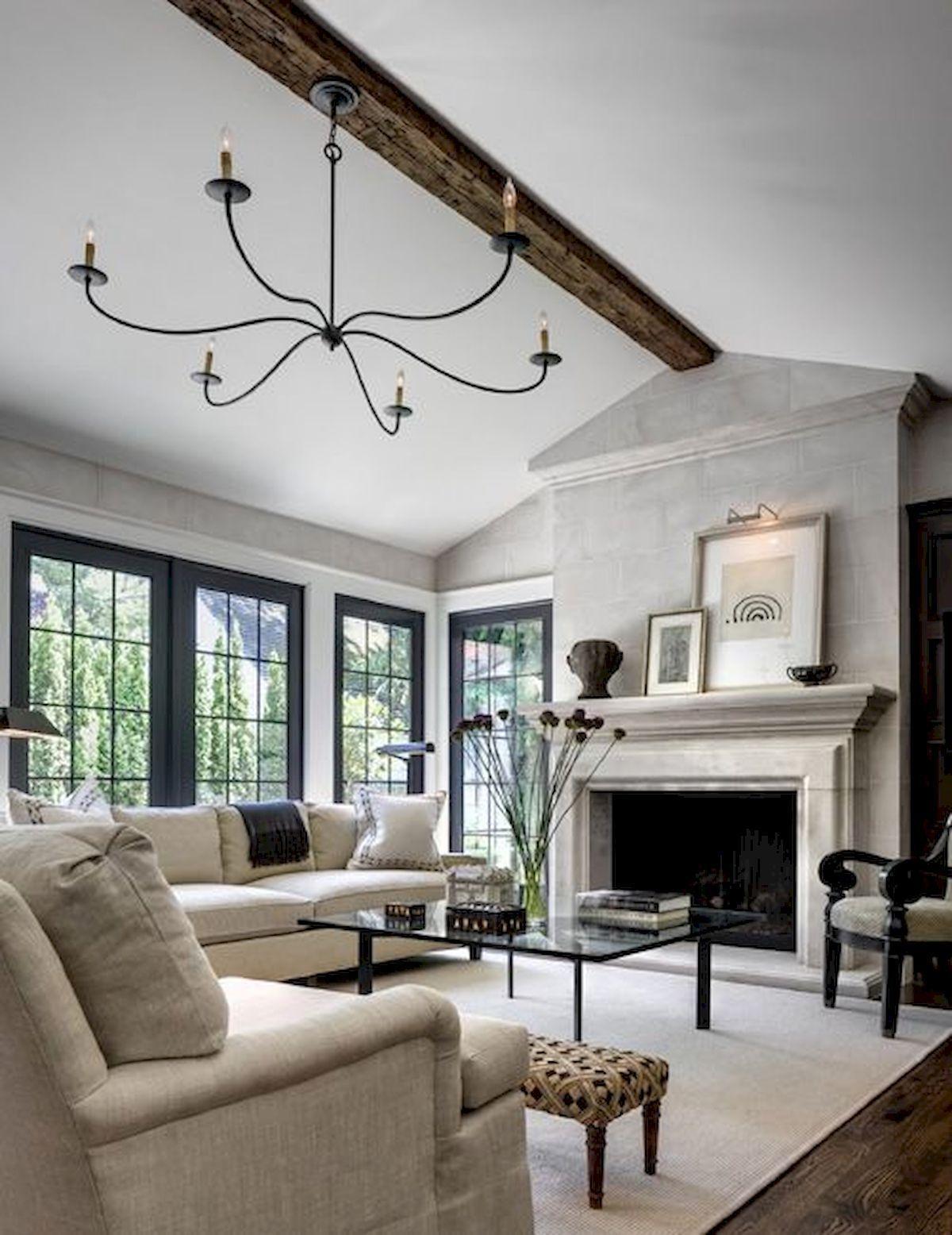 30 elegant farmhouse living room decor ideas (24) Farm
