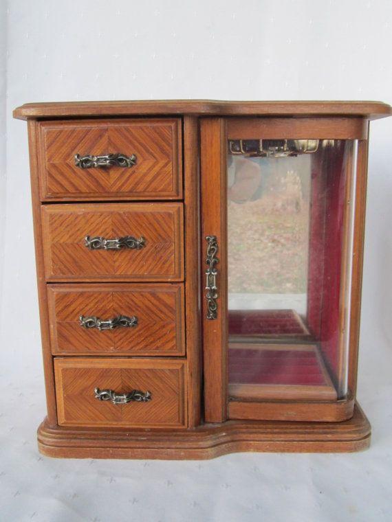 Centurion Wood Jewelry Box Wood Jewelry Chest Vintage Wood Jewelry