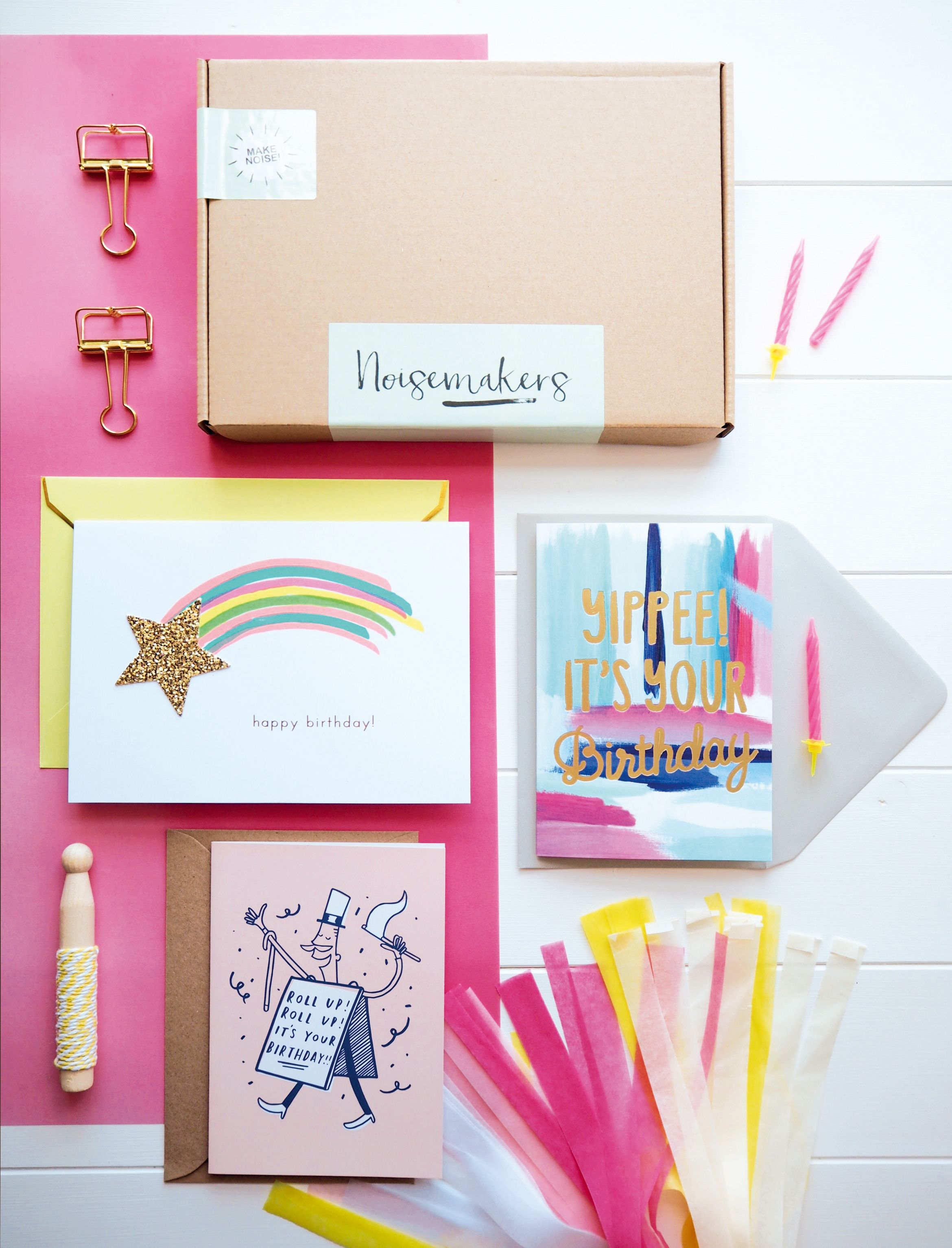 Noisemakers Club a birthday and greetings card subscription box