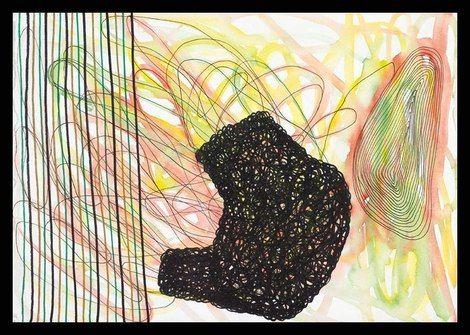 Pablo Rey, Espacios combinados nº 3, 26 x 36 cm. Técnica Mixta, Papel. S. F. de Guíxols 2003. on ArtStack #pablo-rey #art