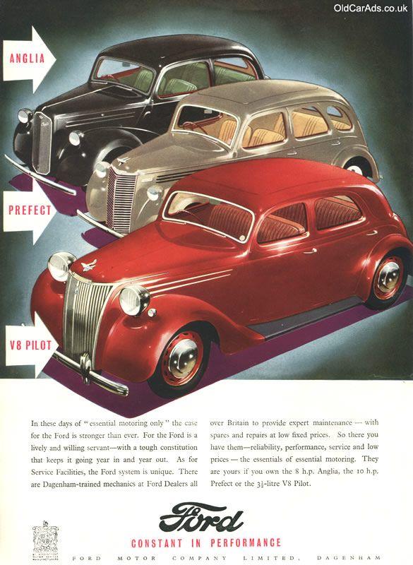 1947 Ford Anglia Prefect V8 Pilot Original Ad Ford Anglia