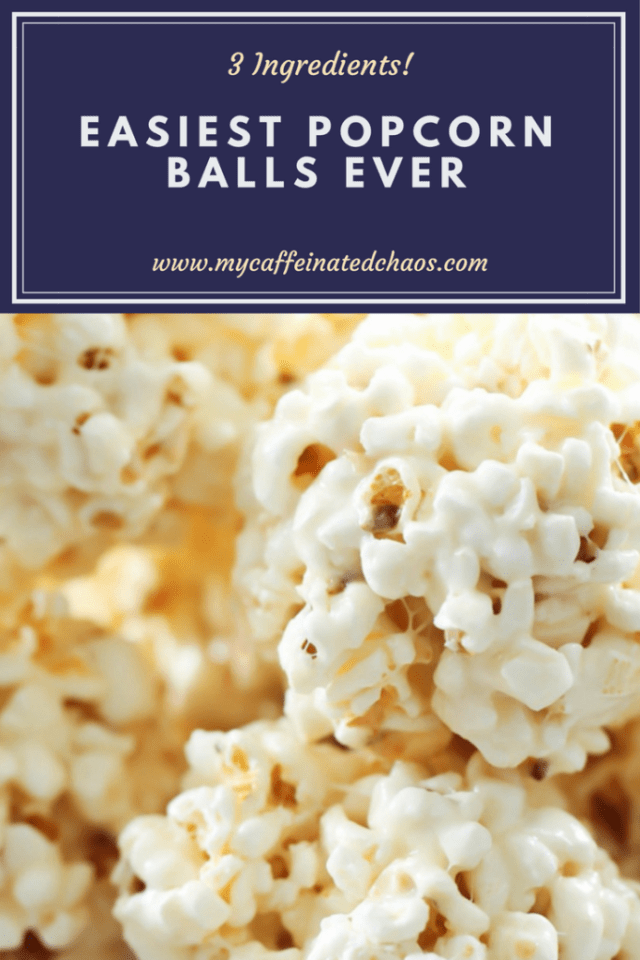 Easiest Popcorn Balls Ever! Only 3 ingredients! #popcornballs