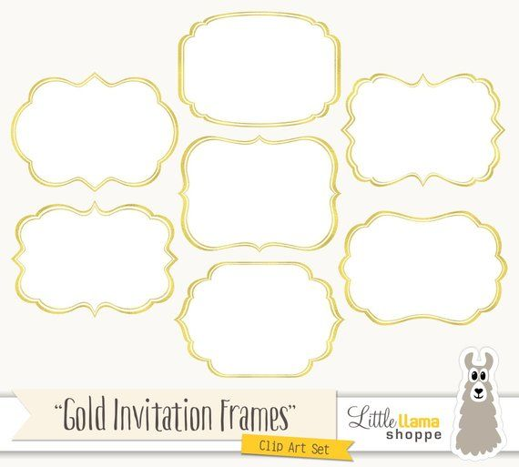 Frame Clipart Fancy Frames Clip Art Gold Foil Frames Frames for Invitations Commercial Use Instant Download Frame Clipart Fancy Frames Clip Art Gold Foil Frames Frames fo...