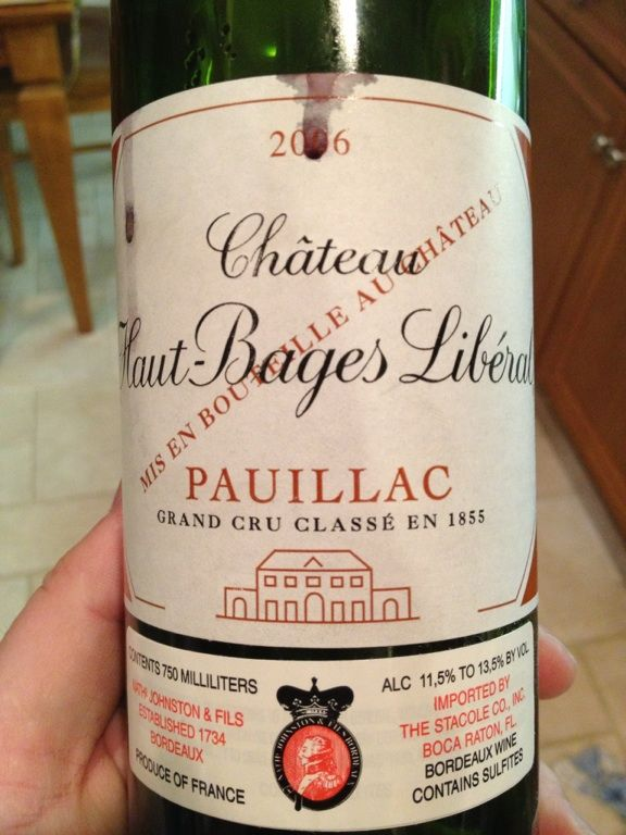 2006 Chateau Houat-Bages Liberal from Pauillac.  Classic Pauillac.