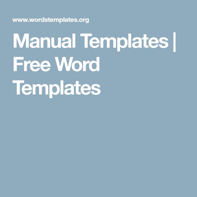 Procedure Manual Template Free Manual Templates  Free Word Templates  Guidelinesmanual Design .