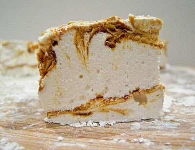Dulce de Leche swirled Marshmallows - imagine this in your hot chocolate!