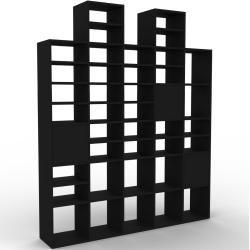 Photo of Wohnwand Schwarz – Individuelle Designer-Regalwand: Türen in Schwarz – Hochwertige Materialien – 195