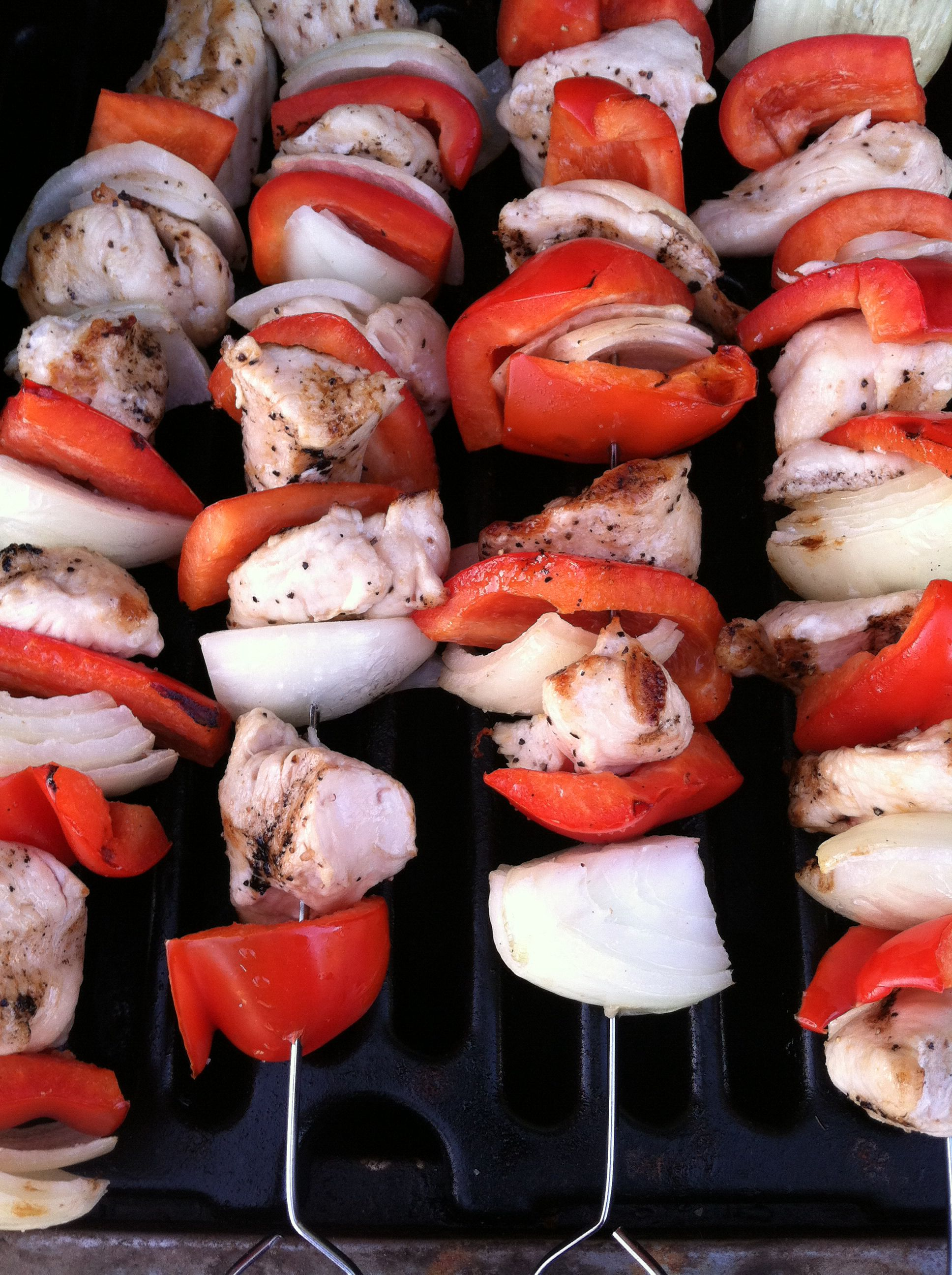 Chicken Kabobs - easy and delish. For real, baby.  #ZWW #SuperYouBooks