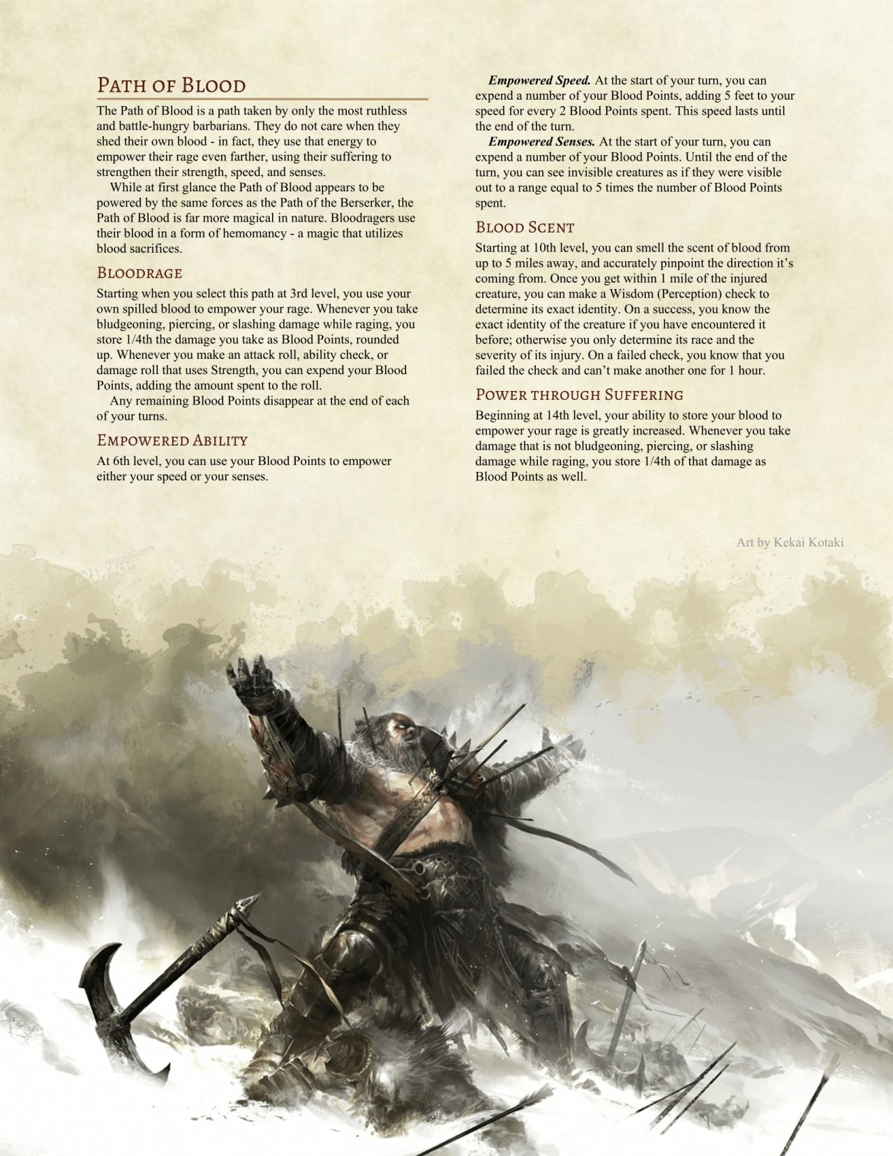 Path of the savage grappler barbarian by 20d12hd – Artofit