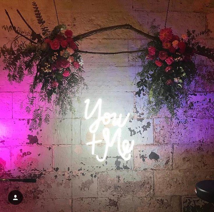 You + Me NEON Wedding Sign custom neon light Wedding