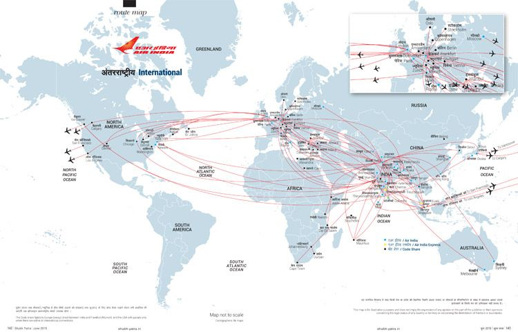 International network route maps pinterest air india and india air indias international network world map air india publicscrutiny