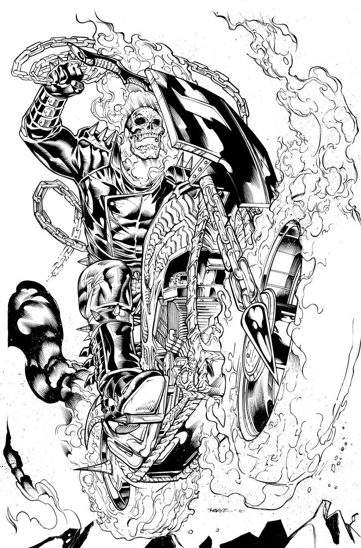 Ghost Rider Alone By Emperios D4kh3v1 Jpg 725 1101 Ghost Rider Drawing Ghost Rider Tattoo Ghost Rider