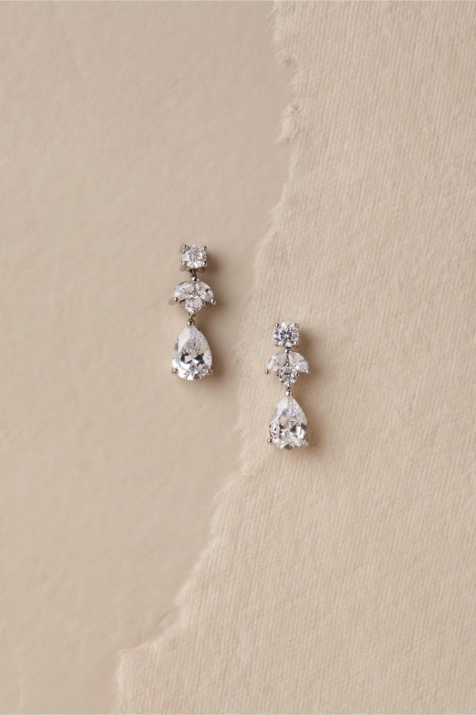 Petite Crystal Drop Earrings Crystal Drop Earrings Bridal Earrings Wedding Jewelry Sets