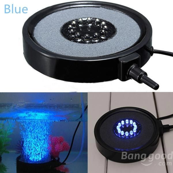 Us 24 35 Aquarium Fish Tank Round Led Up Air Bubble Light Lamp Air Stone Pet Supplies From Home And Garden On Banggood Com Aquarium Fish Tank Fish Tank Bubble Lights