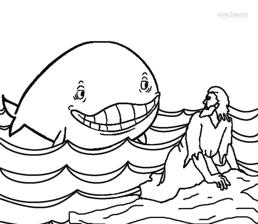 Jonah And The Whale Clip Art Free Jonah Coloring Pages Free Printable Download Whale Coloring Pages Bible Coloring Pages Bible Coloring