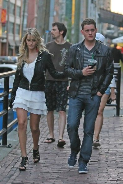 Michael Buble and Luisana Lopilato  in Downtown Vancouver