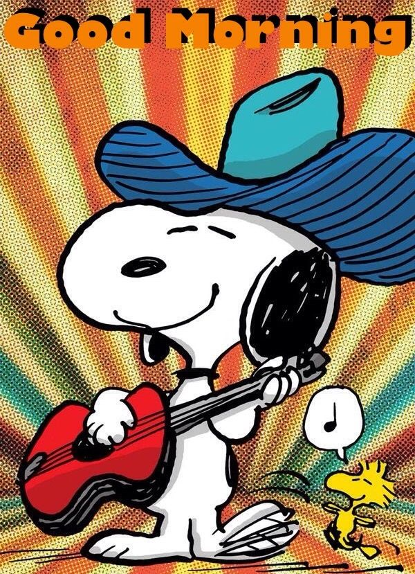 Good Morning Peanuts Gangsnoopy Woodstock Guten