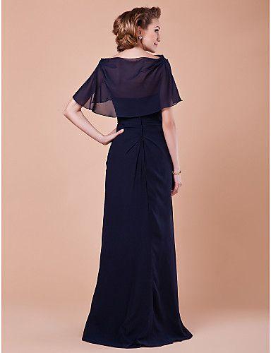 fe9510600b1 Lanting Bride® А-силуэт Большие размеры   Миниатюрный Платье для матери  невесты - Накидка