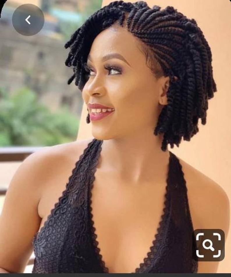 Kinky twist wigs for black women Braided wig braid wig for | Etsy
