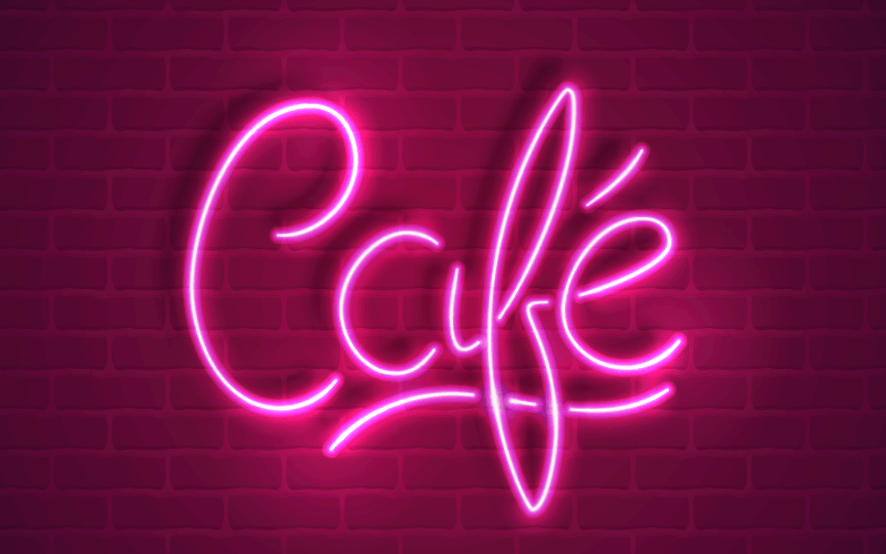 Create Neon Text Effect With Stylism And Adobe Illustrator Neon Signs Neon Typography Neon