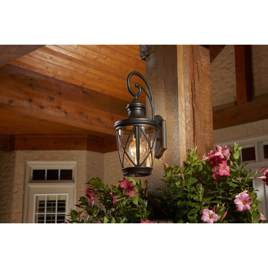 Allen Roth Castine 20 3 8 In H Rubbed Bronze Outdoor