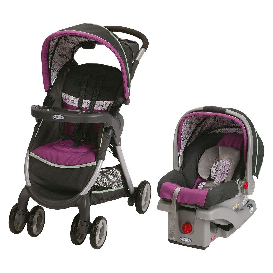 Graco FastAction Fold Stroller and Infant Car Seat Travel