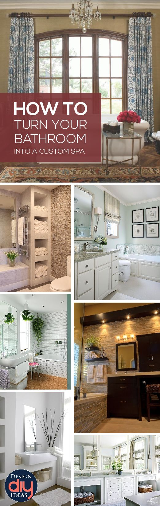 Upgrade Your Bathroom And Turn It To A Custom Spa With A Few Diy