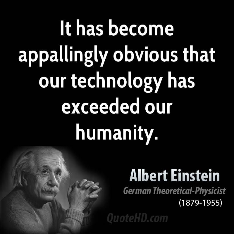 will technology make us lose our humanity It controls us and is causing us to lose our humanity by being 'connected' on facebook or instagram, we are just disconnecting ourselves from the people who currently reside in our life and opting for people who will tell us that the food we just took a picture of and posted looks great.
