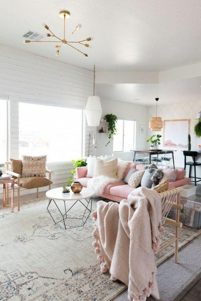 1001 designs uniques pour une ambiance cocooning inspiration d co living room decor gold. Black Bedroom Furniture Sets. Home Design Ideas