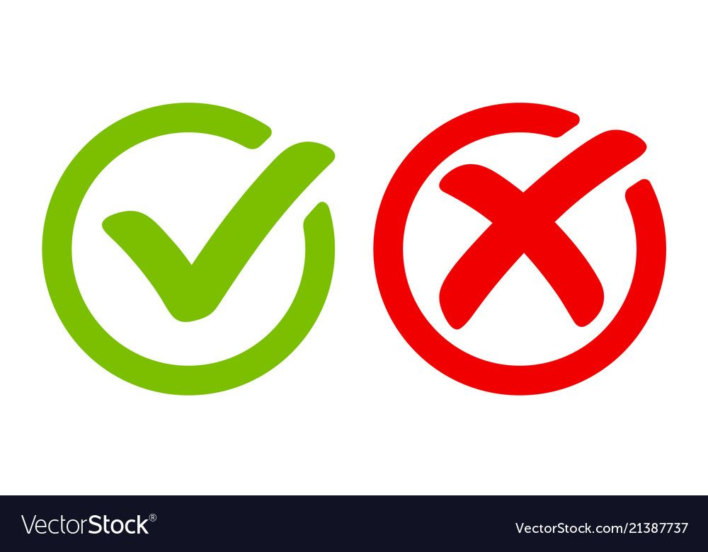 Green Tick Symbol And Red Cross Sign In Circle Icons For Evaluation Quiz Download A Free Preview Or High Quality Doodle Quotes School Coloring Pages Symbols