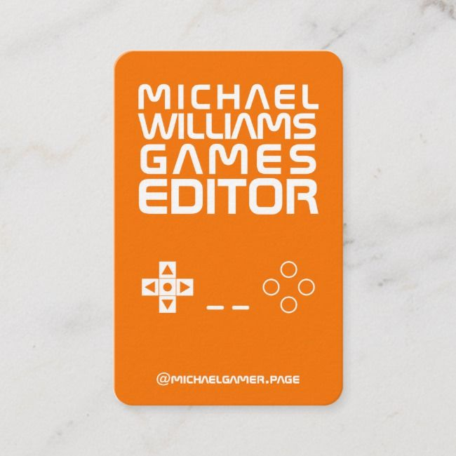 Video Games Pad Console Style Look Business Card Zazzle Com In 2021 Video Game Console Video Games Video Game Tester