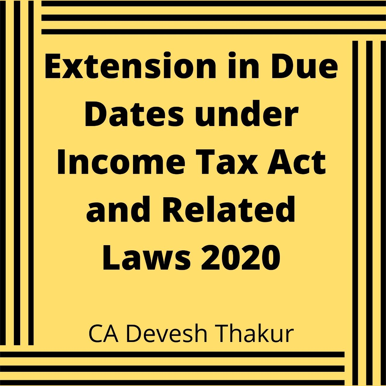 CBDT on 24th June 2020 has issued Notifi. No. 35/2020 on