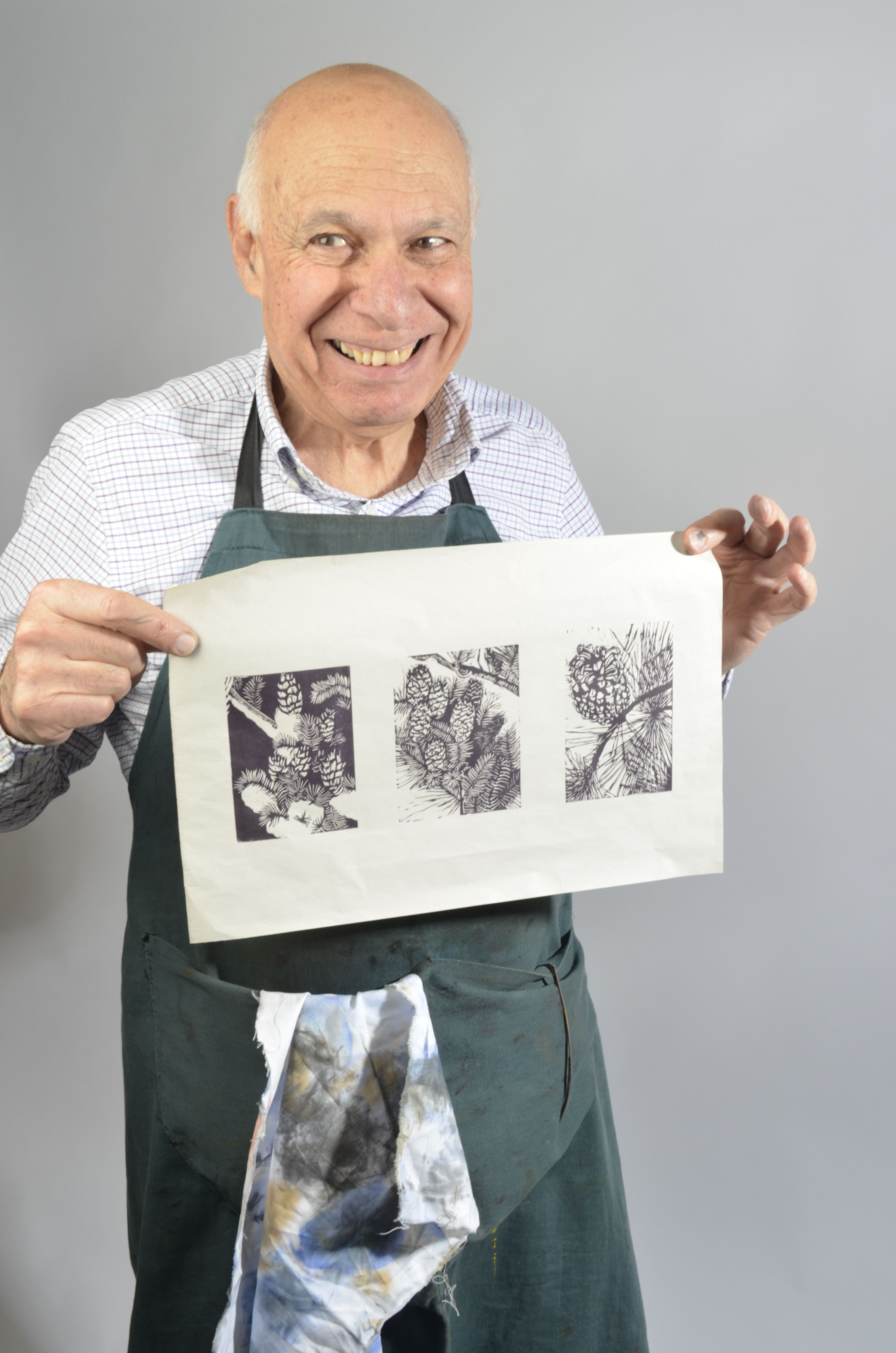 David, a printmaker at Richmond Community College, photographed by Emma le Blanc.