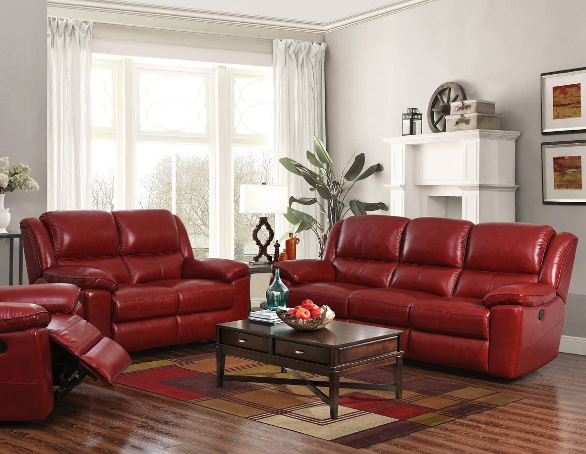 Laguna Power Reclining Living Room Set Red Living Room Sets