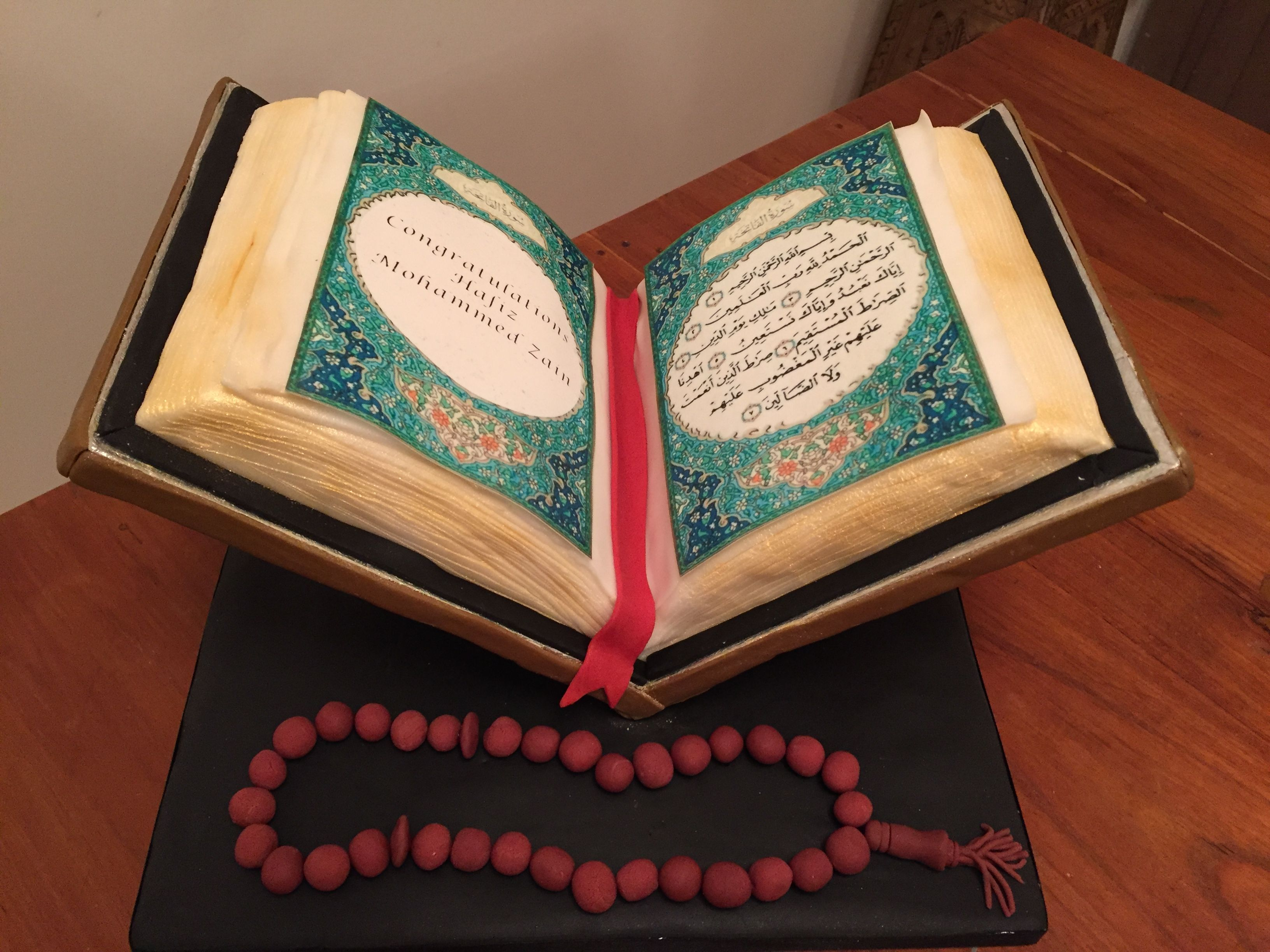 Quran Cake With Removable Keepsake Page Kue Religious Cakes