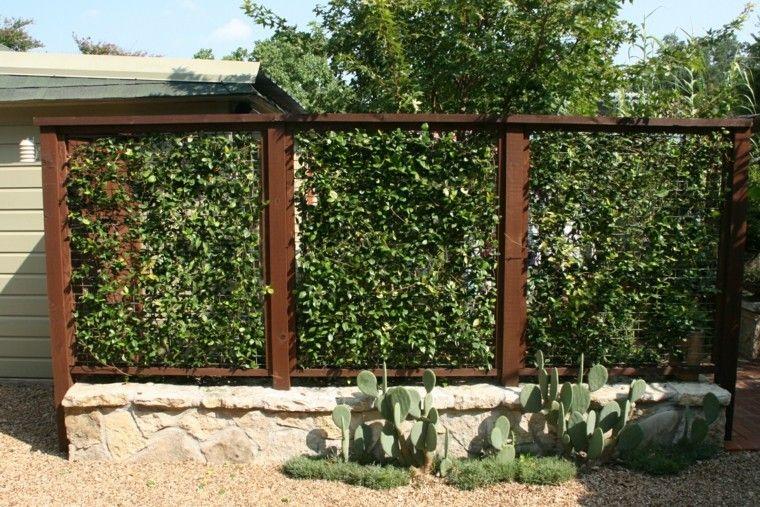 Vallas de madera y vallas metálicas para el jardín Vallas