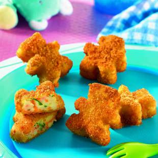 Recette de cuisine Tipiak - enfants : P'tites galettes croustillantes courgettes-carottes - chapelure