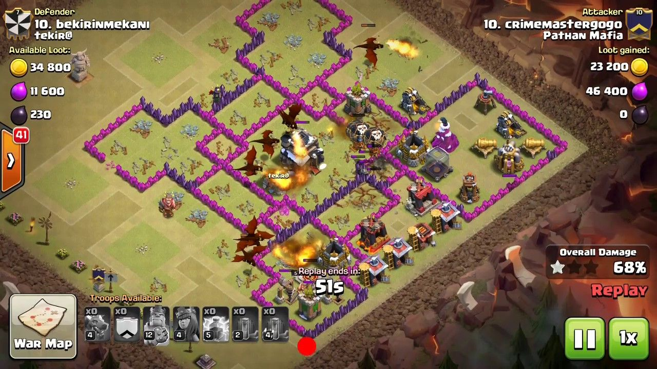 best war attack by crime master gogo on th19 using dragons and
